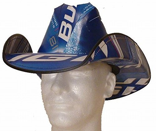 Bud Light Cowboy Hat made from Recycled Beer - Beer Hat Box Cowboy