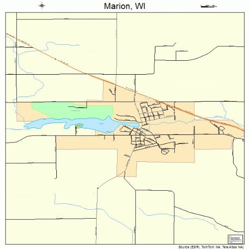 Marion Wisconsin Map.Amazon Com Large Street Road Map Of Marion Wisconsin Wi