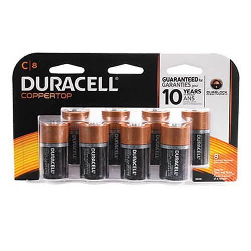 Duracell Coppertop Alkaline C Batteries - 8 Count Doublewide
