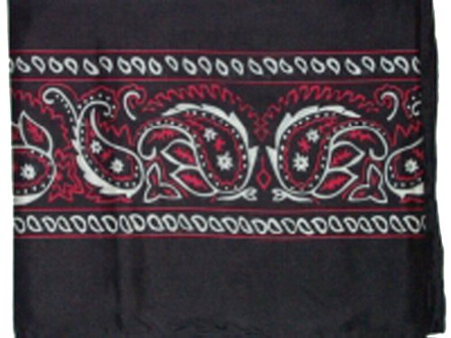 Wyoming Traders Mens Bandana Silk Wild Rag Scarf Black