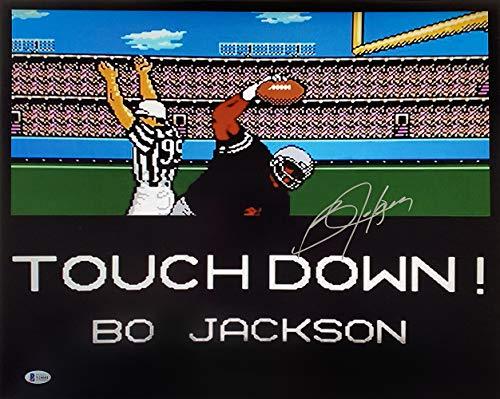 (Bo Jackson Signed 16x20 Tecmo Bowl Photo BAS)