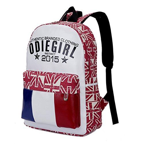 Fortunings JDS® 2015 Neue Ankunft Mode Damen Tasche Leinwand Rucksack Reisetasche rot
