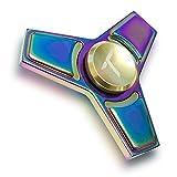 Trianium Rainbow Metal Fidget Spinner Focus Finger Toy Stress Reducer...