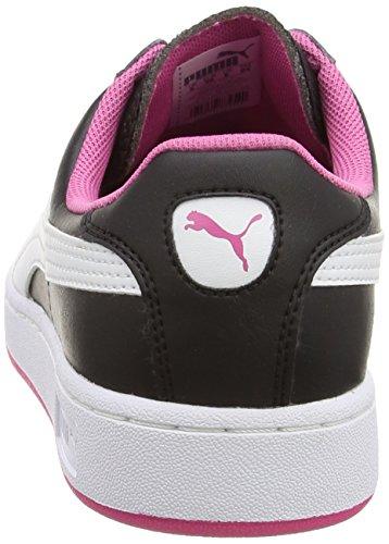 Puma , Mädchen Sneaker Nero (Black/White/Carmine Rose)
