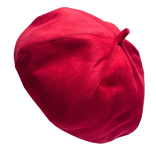 [Menglihua Womens Fashion Classic Suede Solid Color French Style Beret Beanie Hat Cap Red One Size] (Benny And Smalls Costume)