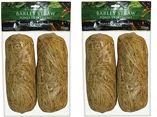 Summit 130 Clear-water Barley Straw Bales, 2 Packs of 2- 4 total (Barley Bale)