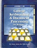 Gregg College Document Processing for Windows : Lessons 61-120, Ober, Scot, 0028031628
