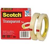 Scotch Transparent Tape, 1/2 x 2592 Inches, 3 Inch Core, 2 Rolls (600-2P12-72)