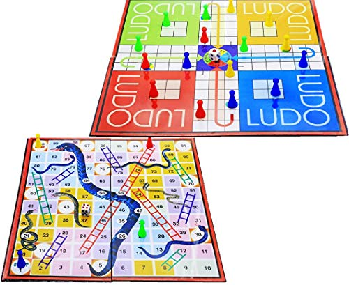 Buy Laminated Ludo Snake Ladder Board Game For Kids Set Of 1 Ludo Game Set Family Set Multi Colored Ludo Toys Set For Kids Online At Low Prices In India Amazon In