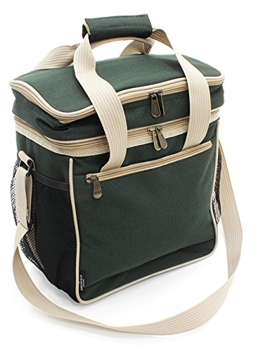 Carrying Wine Bag Ultimate - Greenfield Collection 18L Luxury Lightweight Cool Bag - Forest Green