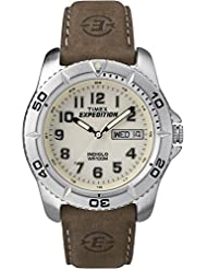 Timex Mens T46681 Expedition Traditional Brown Leather Strap Watch