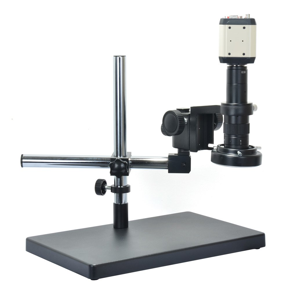 2.0MP VGA USB AV Digital Microscope Industrial Camera Kit +180x C-mount Lens + Big Stereo Stand + 144 LED Adjustable Lamp Light