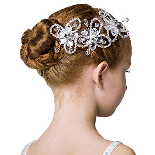 (3 Packs Headdress Flowers Crystal Pearls Rhinestones Beading Beautiful Girls Hair Accessories Princess Hair Jewelry Ceremony performce Prom Party Wedding 9 styles (SZ))