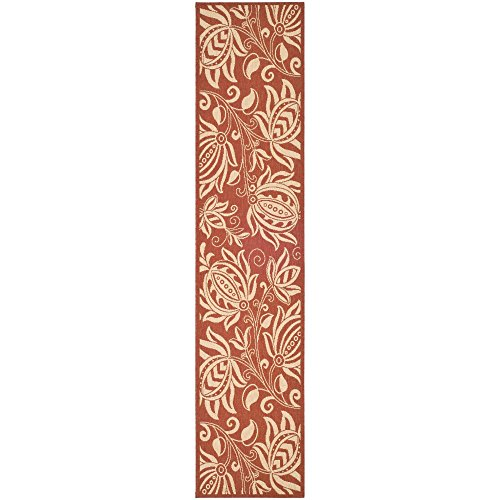 Safavieh Courtyard Collection CY2961-3707 Red and Natural Indoor/ Outdoor Runner (2'3
