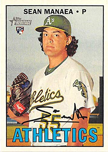 (Sean Manaea baseball card (Oakland Athletics Pitcher) 2016 Topps Heritage #663 Rookie)