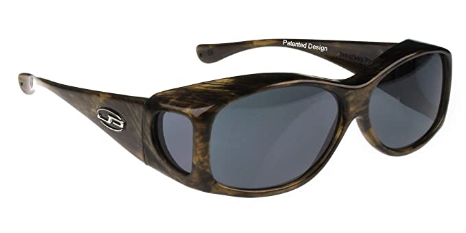 1577bf2be123 Image Unavailable. Image not available for. Color  Jonathan Paul Fitovers  XS Glides Brushed Horn Polarized Gray Sunglasses