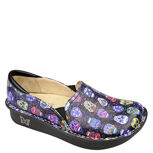 Skull Slip On - Alegria Debra Womens Professional Shoe Sugar Skulls 8 M US