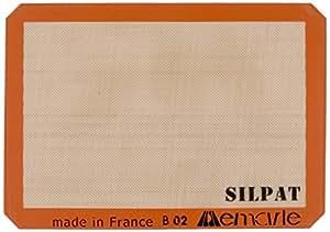 Silpat AE420295-07 Premium Non-Stick Silicone Baking Mat, Half Sheet Size, 11-5/8 x 16-1/2