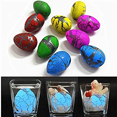 XJBHRB 2 Uds. Lindos Huevos Mágicos Dinosaurios Creciendo Eclosionando Agregar Agua Creciente Dinosaurio Novedad Mordaza para Niños Juguetes Educativos Regalos (Color : Random Color): Home & Kitchen