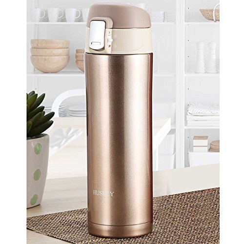 Huskey Insulated Travel Mug - Leak Proof Coffee Tumbler - Stainless Steel Vacuum Thermos - 17 Oz (12)