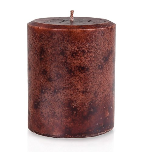 - JenSan Sandalwood Scented Candle Pillar - Handmade – Hand-poured - Decorative