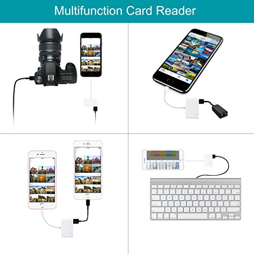 FA-STAR SD Card Reader, Digital Camera Reader Adapter Cable, Lightning to USB Camera Adapter, SD/TF Card Reader, Trail Game Camera Viewer for iPhone/iPad, No App Required, Plug and Play by FA-STAR (Image #3)