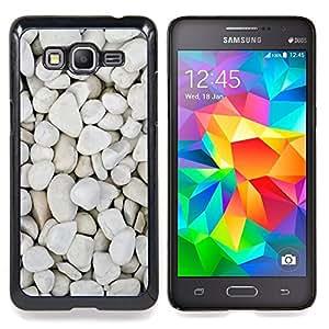 """Pebbles Beach Diseño natural"""" - Metal de aluminio y de plástico duro Caja del teléfono - Negro - Samsung Galaxy Grand Prime G530F G530FZ G530Y G530H G530FZ/DS"""