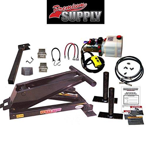 Hydraulic Hoist Kit- 16,000 lbs- Dump Trailer- 12V- Scissor Hoist Kit Complete. ()