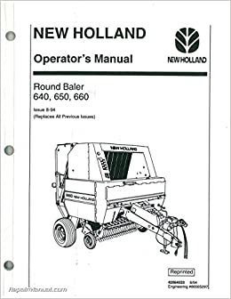 42064033 Used New Holland 640 650 660 Round Baler Operators Manual