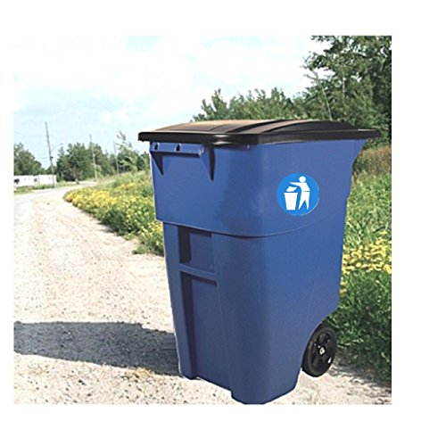 50 Gal Trash Can With Wheels Lid Heavy Duty Tall Garbage