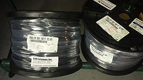 500-ft Bobina Belden 1694 a HD SDI/18 AWG RG6 Cable Coaxial Digital de la serie - negro: Amazon.es: Electrónica
