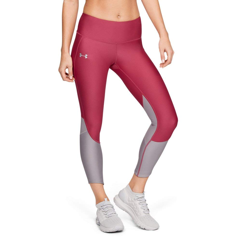 Under Armour Women's Armour Fly Fast Crop, Impulse Pink//Reflective, X-Small