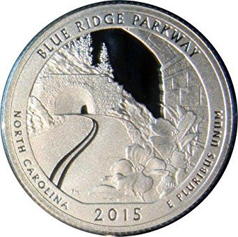 2015 S National Parks North Carolina Blue Ridge Parkway Proof Quarter PF1