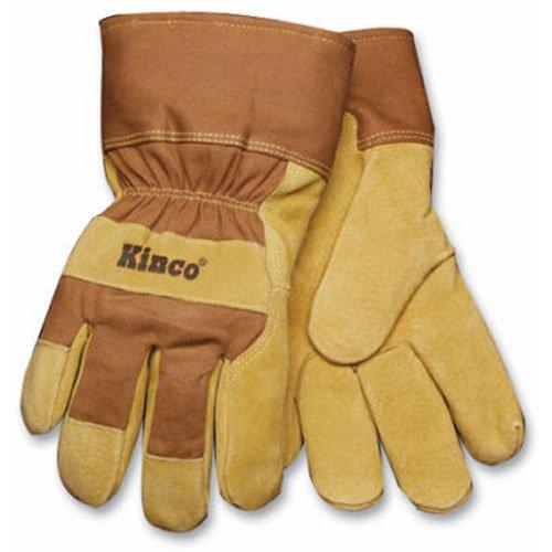 KINCO 1938KWP-XL Men's High Visibility Grain Pigskin Gloves, AquaNOT Waterproof Insert, Safety, X-Large, Orange (Waterproof Palm Pigskin Gloves)