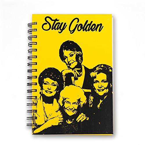 (Golden Girls Stay Golden Spiral Notebook | Hardcover Book | Licensed ABC Merchandise and Accessories | Perfect to Use at Work, School, Home, and More )