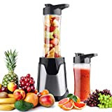 Professional Personal Small Blender Smoothie Maker,Portable Electric High-Speed Blender for Smoothies, Ice and Frozen Fruit, with Tritan Travel Sport Bottle, BPA-Free