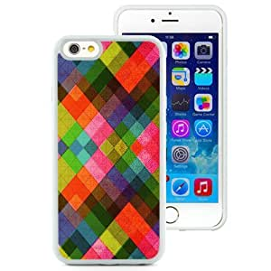 Fashionable Custom Designed iPhone 6 4.7 Inch TPU Phone Case With Multicolored Diamonds Pattern Abstract_White Phone Case