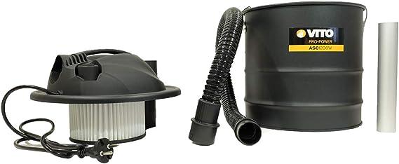 VITO - Aspirador de cenizas, 1200 W, 18 L, filtro HEPA para ...