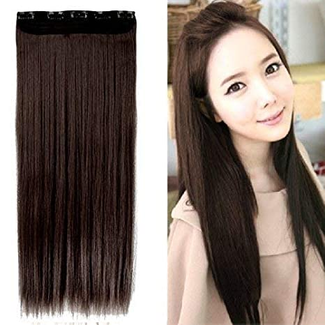 D-DIVINE Women 24 Inch 5 Clip Hair Extension (Brown)  Amazon.in  Beauty 9ae981f68e