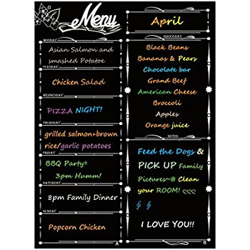 "Amazon.com : Magnetic Meal Planner 17"" x 11"" - dry erase"