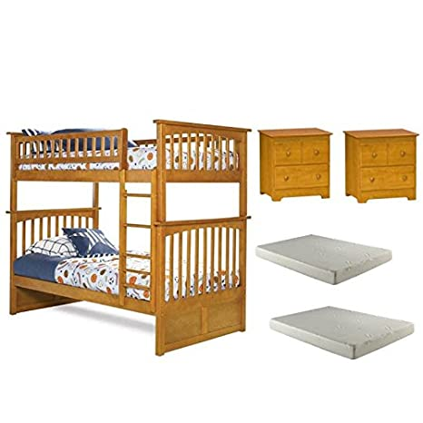 Amazon Com Home Square 5 Piece Bedroom Set With Twin Over Twin Bunk