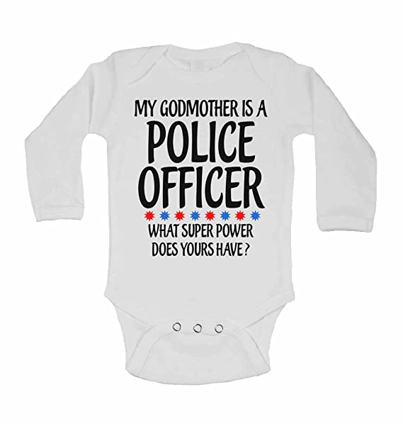 Baby Vests My Godmother Is A Police Officer What Super Power Does Yours Have?