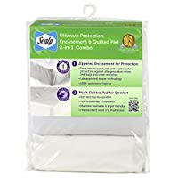 Sealy Ultimate Protection Encasement and Quilted Crib Mattress Pad 2-in-1 Com...