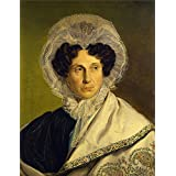 'Alfred Rethel Portrat der Mutter des Kunstlers ' oil painting, 12 x 16 inch / 30 x 40 cm ,printed on polyster Canvas ,this Vivid Art Decorative Prints on Canvas is perfectly suitalbe for Home Office decoration and Home decoration and Gifts