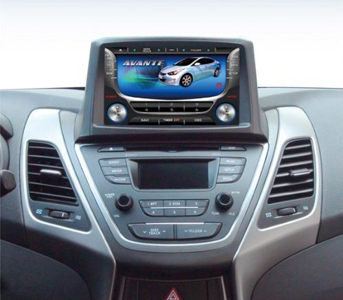 JyCustom 7 inch GPS Front Fascia Integrated 7-pc Set For 2014 Hyundai Elantra : New Avante
