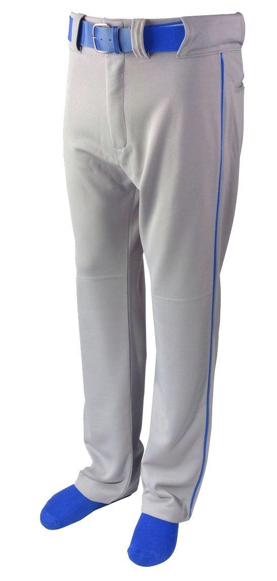 Martinスポーツ大人用野球/ソフトボールベルトループパンツ、グレーwith Color Piping B079Z1C54B Adult Small|Royal Blue Piping Royal Blue Piping Adult Small
