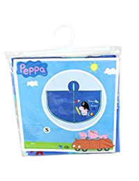 Peppa Pig - George The Pirate Children's Blue Waterproof Rain Poncho - SMALL