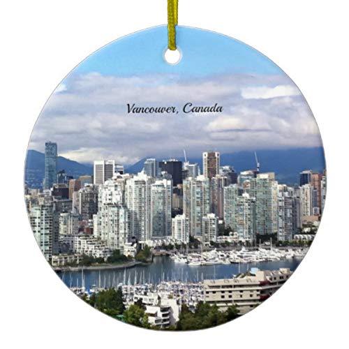 Vancouver Canada Skyline Ceramic Ornament