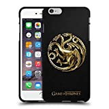 Official HBO Game of Thrones Gold Targaryen Sigils Black Soft Gel Case for Apple iPhone 6 Plus/iPhone 6s Plus