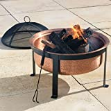 Brylanehome Copper Fire Pit With Black Stand (Copper,0)